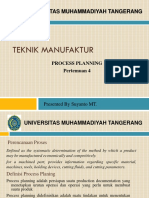 5. Teknik Manufaktur-Process Planning & Operation