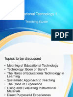 Lesson in Educ Tech 1 & Lecture Outline