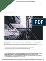 5 Artículos Fundamentales Para El Cálculo de Estructuras Metálicas