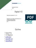 Digital IO Arduino