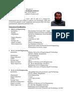 Resume of Dr. Md Mahmudur Rahman