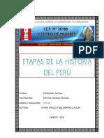 Cultura Peruana - Etapas