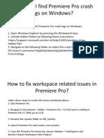 Important Question About Adobe Premiere Pro