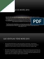 Ejercicio de Word de 2010 #1