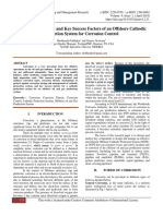 Design, Management and Key Success Factors of an Offshore Cathodic Protection System for Corrosion Control
