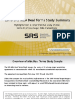 SRS Deal Terms Study