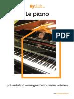 Conservatoire Plaquette Piano 2017-18