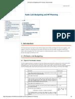 LTE Radio Link Budgeting and RF Planning - Lteencyclopedia