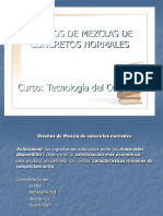 DISEÑO DE CONCRETO DE MEZCLAS NORMALES