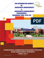 Admission brochure for MBA & Ph. D