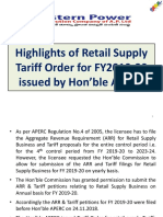 PPT on Tariff for FY2019-20