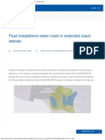 Float Installations Lower Costs in Extended Reach Laterals Packers Plus