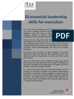 20 Essential Leadership Skills for Execution