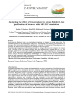 Analysing the effect of temperature for steam fluidized-bed gasification of biomass with MP-PIC simulation