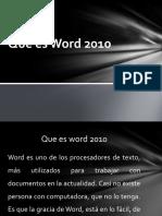 Que es Word 2010
