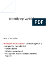 identifying variable