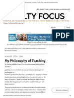 My Philosophy of Teaching - Faculty Focus _ Higher Ed Teaching & Learning