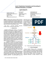 Application Guidelines for Transformer Connection and Grounding for Distributed Generation- An Update
