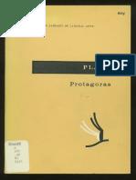 Plato- Protagoras- Vlastos ed.