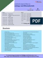 Meeting Agenda Biotechnology and Biomaterials-2020