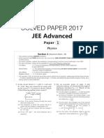 JEE Advanced Paper 1 (2017)