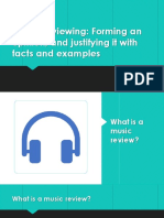 Music Review writing