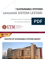 Masters in Sustainable System 2016