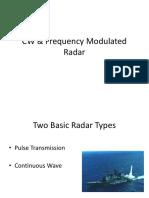 CW & Frequency Modulated Radar