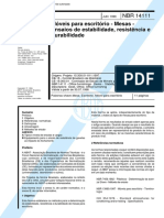 Abnt - Nbr 14111 - Moveis Para Escritorio - Mesas - Ensaios de Estabilidade Resistencia E Durabil