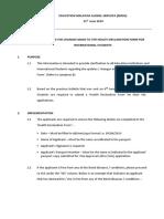 Health Declaration Form