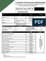 Admission 2017 18