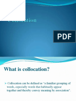 Morphology - Collocation