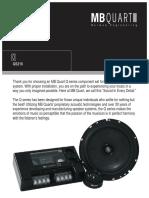 MB Quart QS216 Speaker Manual