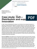 Dell - Distribution & Supply Chain