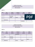 Horario de Evaluaciones Saber 2 Per - 2019