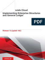 Implementing Enterprise Structures and General Ledger122
