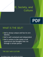 Lesson Self, Society, And Culture