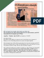 SBI Cuts Deposit Rates Sharply