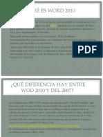 Qué ES WORD 2010