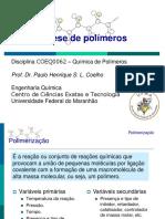 Aula 3 - Síntese de Polímeros
