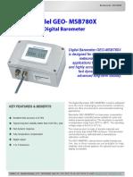 9733 0010 Model GEO-MSB780X Digital Barometer