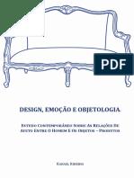 DESIGN, EMOÇÃO E OBJETOLOGIA