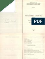 Resolución 444 de 1977