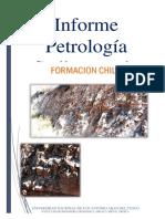 Informe Petrología  Fomacion Chilca