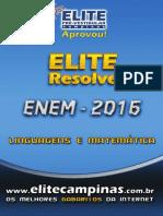 Elite resolve linguagens matematica 2015