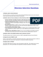 Top 17 Active Directory Interview Questions