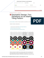 Geometric Design- Two Variations on an Islamic Tiling Pattern