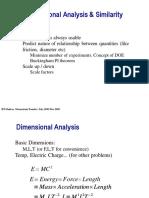 Dimensional Analysis & Similarity