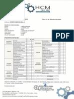 Certificado de Operatividad Minicargador