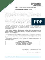 Información y Batería de Preguntas Para La Recuperación de FyQ de 3ºESO